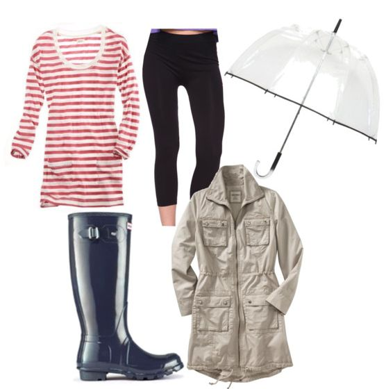 How to Dress Cute When It's Raining