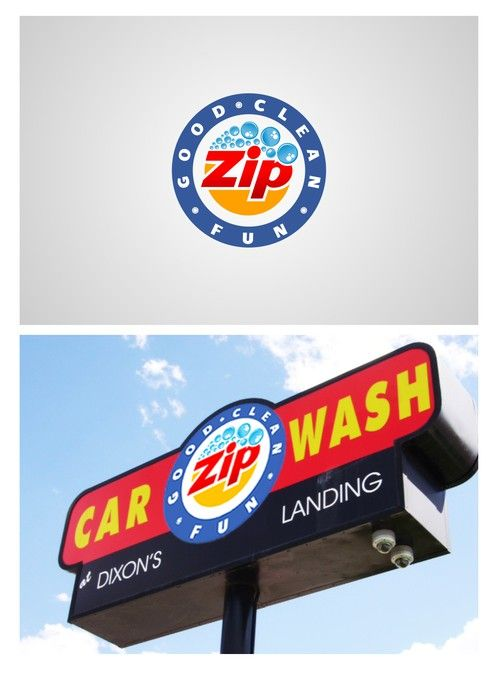 Zip Car Wash - Logo Design by R.one