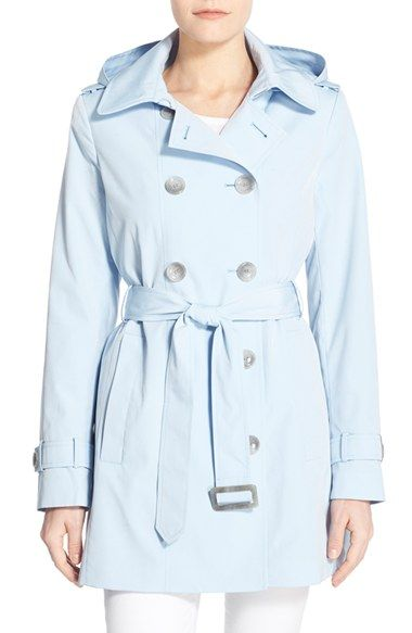 Calvin Klein Double Breasted Trench Coat  Size: 9 Color: Periwinkle available at #Nordstrom