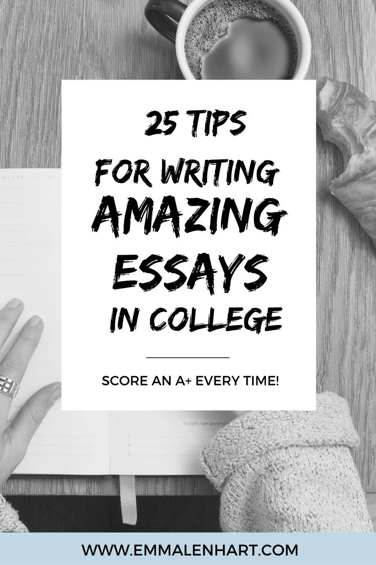 Get 25 essay writing tips to use as a college student. Find out how to organize an essay, draft an essay, edit it, and more.