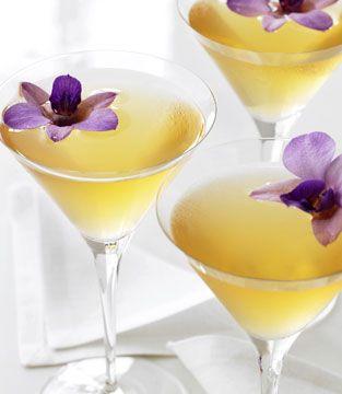 The Butterfly Martini | Grey Goose Le Citron Vodka, Elderflower liqueur, mint, lemon, grape juice and basil leaves.