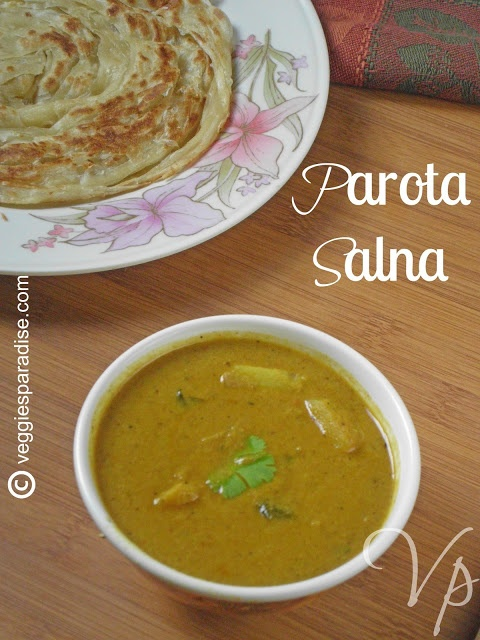 PAROTA SALNA | PAROTA CHALNA - STEP BY STEP- Parota's are very popular all over the world and the combination of parota with salna is one of the famous food you can see in all the road-side restaurants of South India.