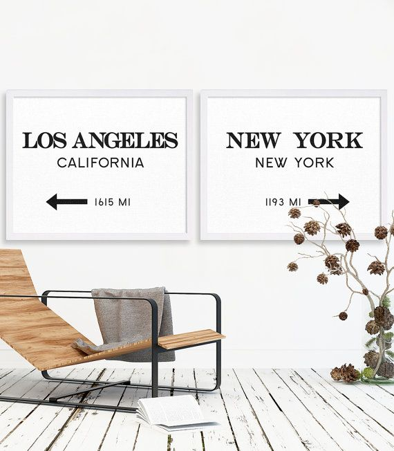LA Print NYC Art Print Extra Large Art Home by MetropolisPrints