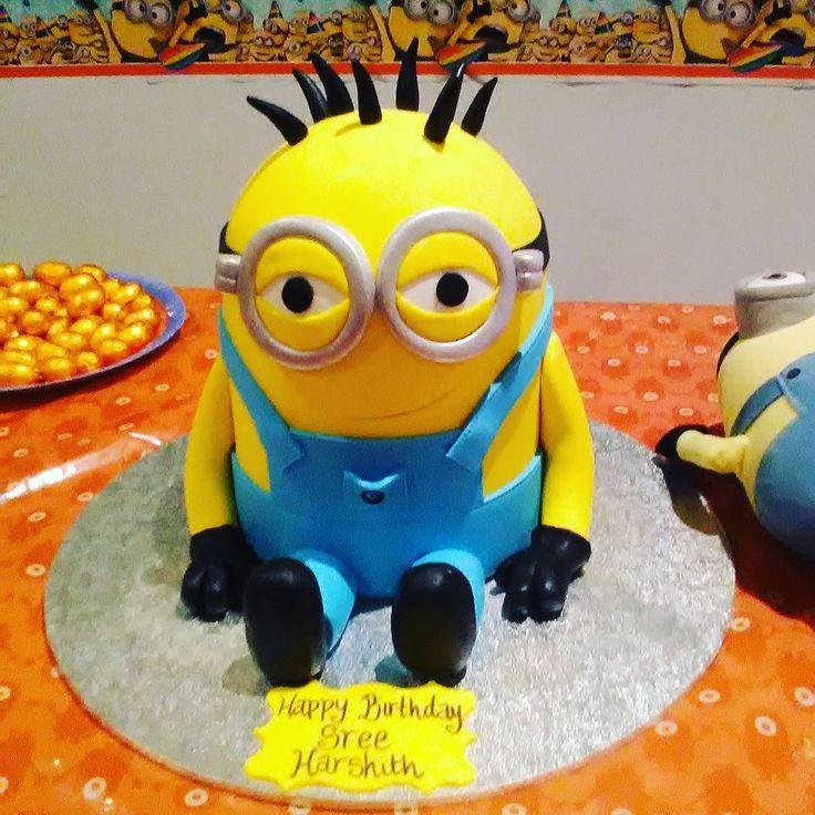 Best birthday cake ever!  #minions #minioncake #birthday #birthdaycake