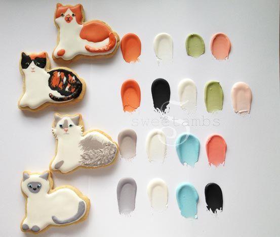 Cat cookie color palette