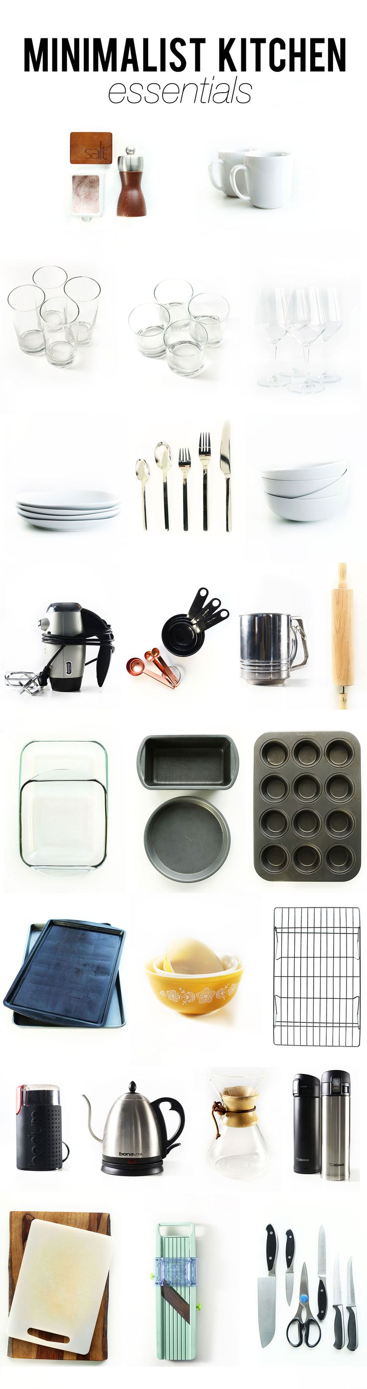 Our top-to-bottom Minimalist Kitchen Essentials | MinimalistBaker.com