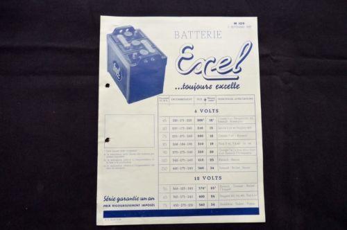 Batterie-EXEL-6VOLTS-amp-12-VOLTS-1937-REF-07