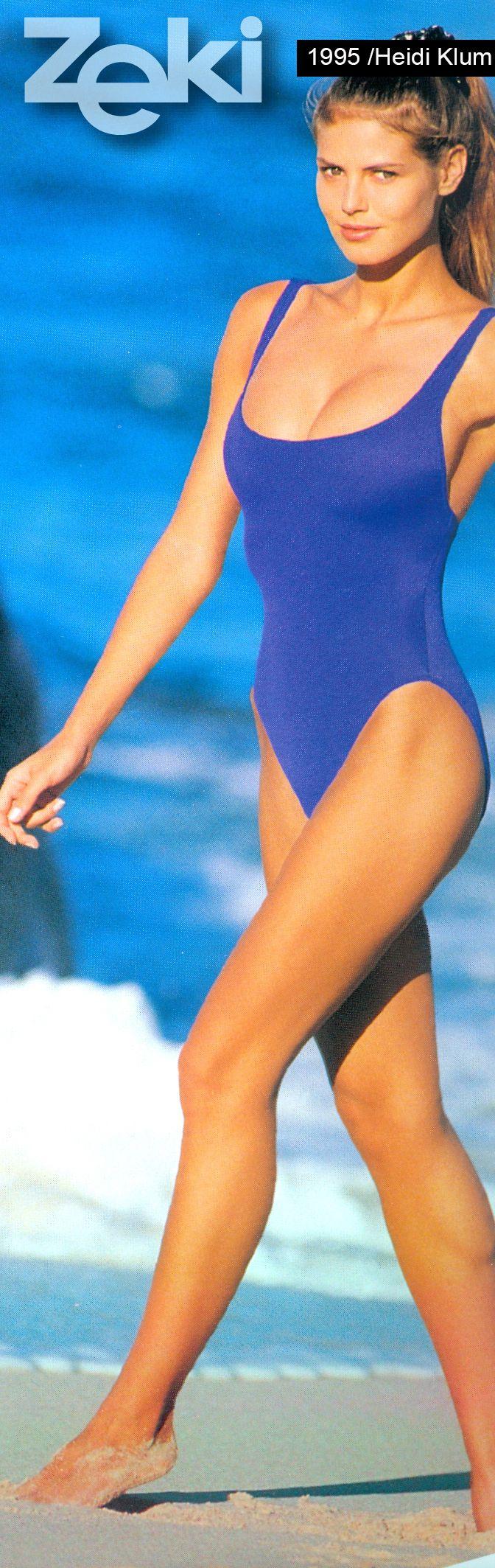 Heidi Klum was the model of Zeki Triko in 1995.