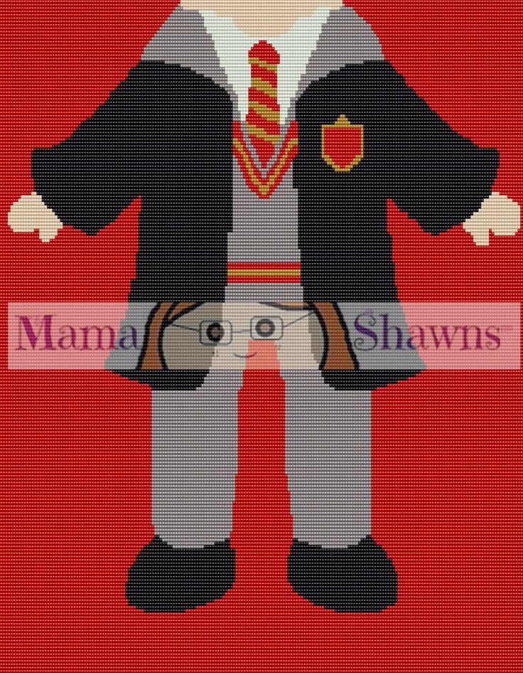 Ron Weasley Inspired Graphghan, Written Pattern, Word Chart, Row by Row…