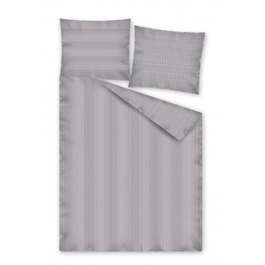 Sivé posteľné obliečky v rozmere 160x200cm