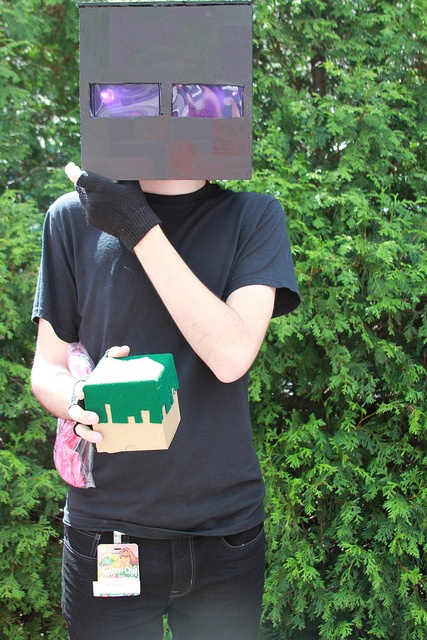how to make an enderman costume