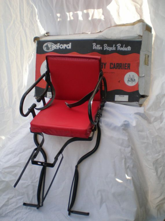 NOS Bicycle Baby Child Carrier Seat Oxford Better Bicycyle Products Unopened Box