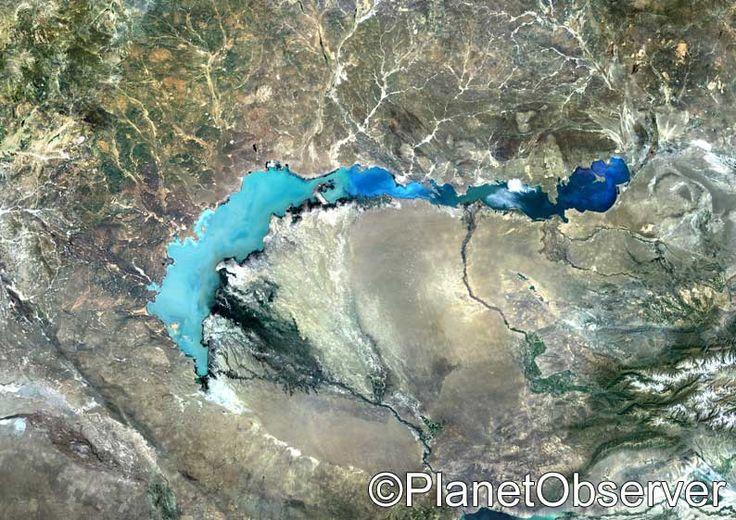 Lake Balkhash, Kazakhstan – PlanetSAT satellite image