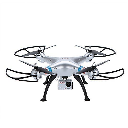 NEW Drone Headless 2.4Ghz 4CH RC Quadcopter w/ 8MP HD Camera Silver Ages 14+ #SYMA