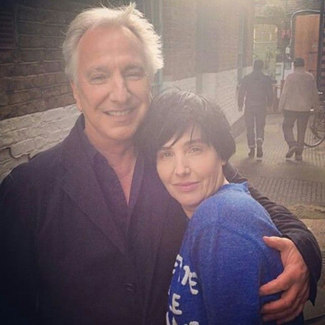 Alan Rickman and Sharleen Spiteri.  Texas - Start A Family.  Shooting a new vid with Alan:)