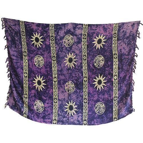 Wholesale Bali Celtic Sarongs - Sun Symbols Scarves #Summer_Sarongs #Sarongs_Summer #Purple_Sarongs