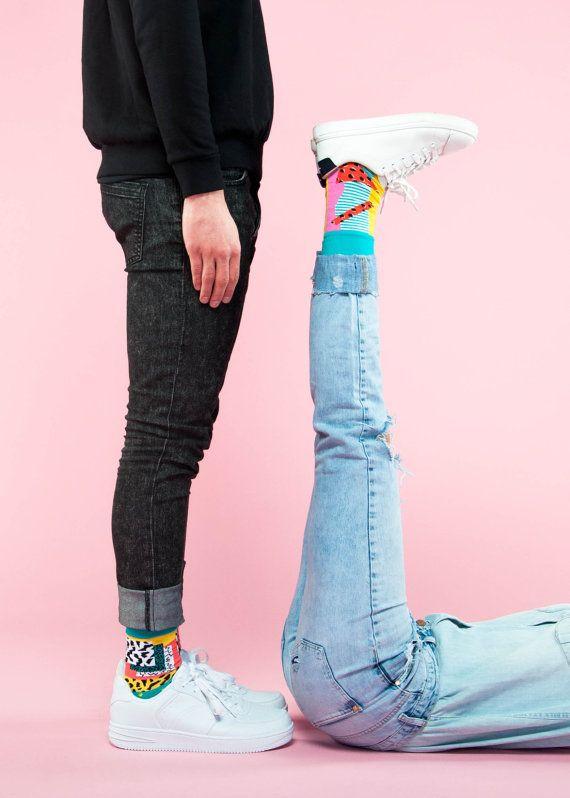 Watermelon socks summer socks socks gift crazy by zuluzionsocks