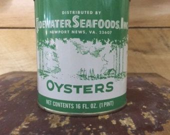 NICE vintage Sailor Boy 12 oz oyster tin can by ValleyCollectables