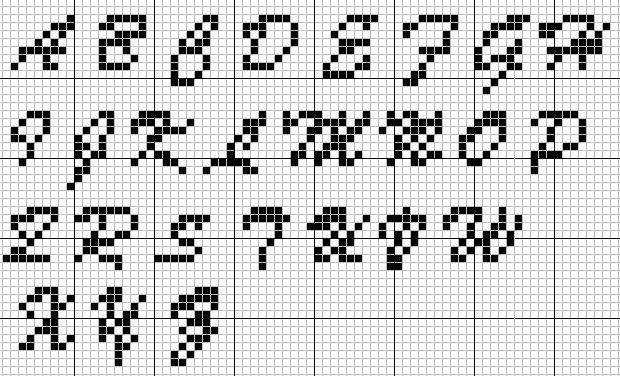 Knitting Letters Template : Best alphabets monograms images on pinterest cross