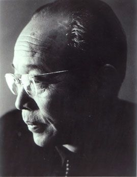 """Kenji Mizoguchi(May 16, 1898 – August 24, 1956) was aJapanesefilm directorandscreenwriter. His filmUgetsu(1953) won the Silver Lion at theVenice Film Festival, Mizoguchi is renowned for his mastery of thelong takeandmise-en-scène.According to writer Mark Le Fanu, """"His films have an extraordinary force and purity. They shake and move the viewer by the power, refinement and compassion with which they confront human suffering."""""""