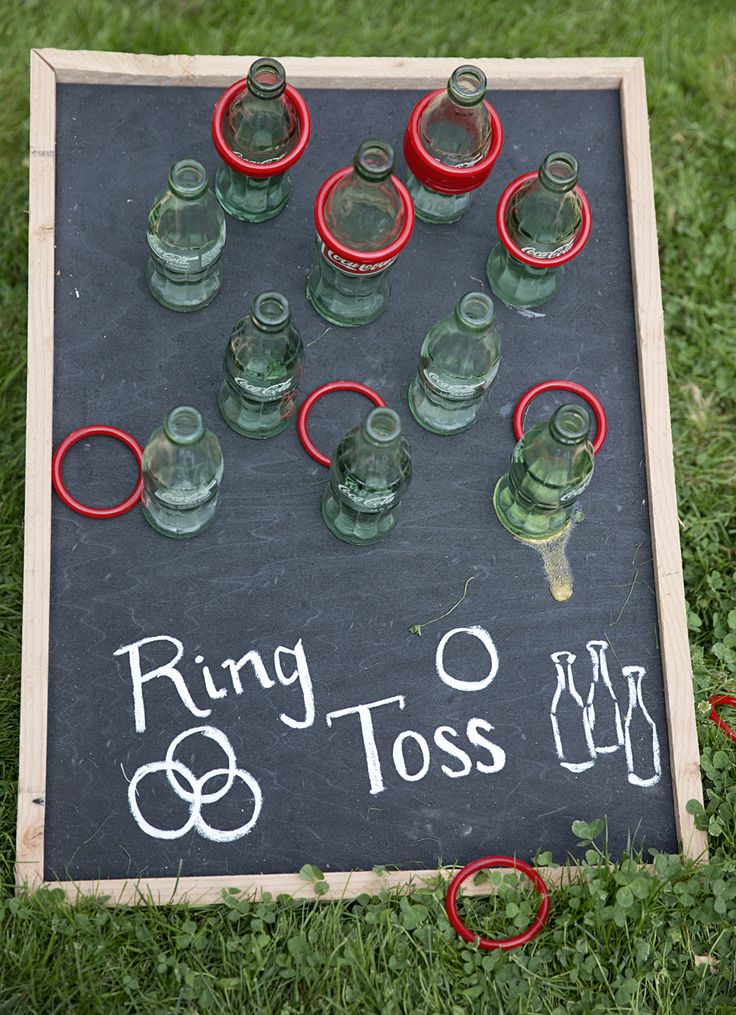 Wedding lawn games, ring toss