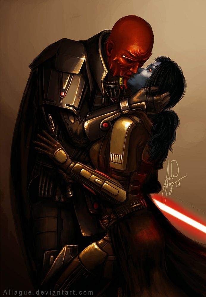 Lord Scourge and a Chiss Jedi Knight from Star Wars the Old Republic MMO.