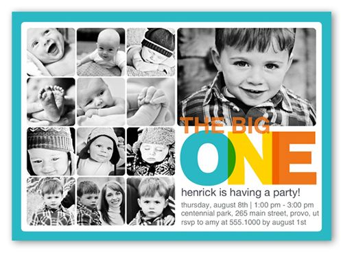 Every Amazing Month Boy 5x7 Invitation Card | Birthday Invitations | Shutterfly