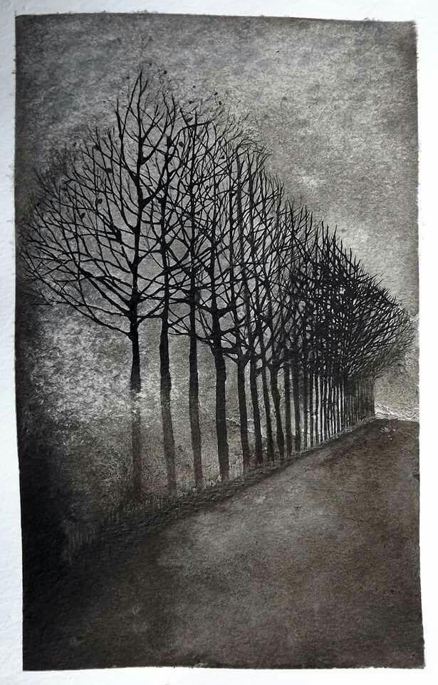 Nanquim de Raphael Marchioro.#Nanquim #tree
