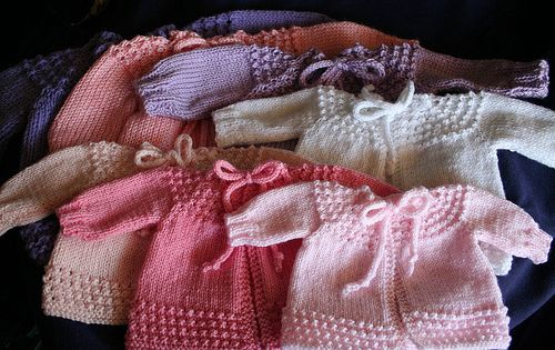 "This pattern can be used from preemie to a 25"" chest size. Many sizes are shown in the pattern with different weights of yarn."
