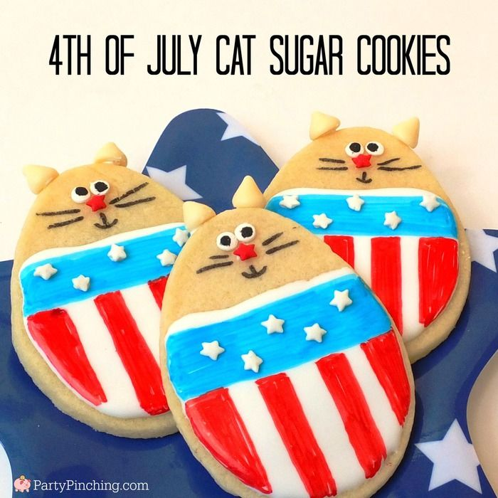 4th of July Cat Cookie tutorial by PartyPinching.com for Tablespoon.com