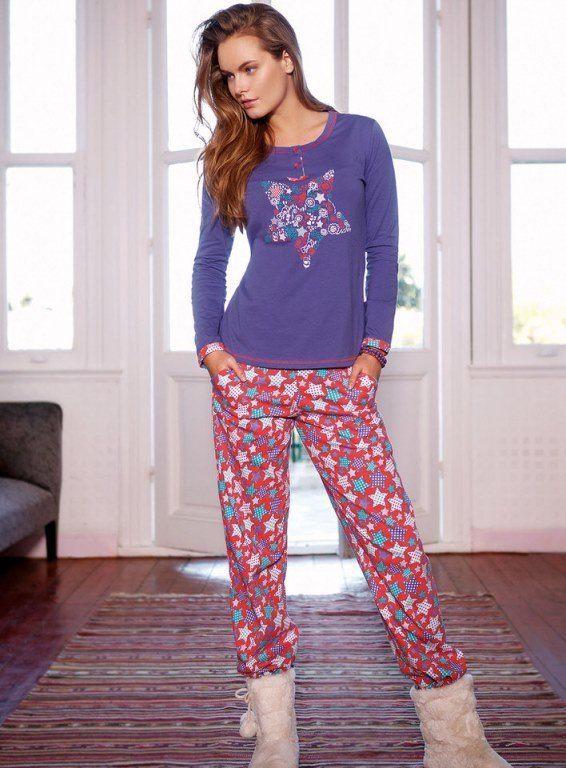 Yeni İnci Yıldızlı Bayan Pijama Takım 818 #Yeniinci #BayanPijama Koleksiyonu http://www.camasirim.com/marka/yeni-inci-23-2759