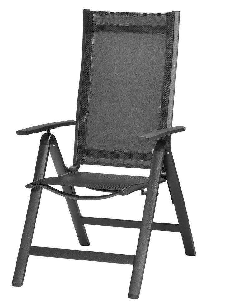 Regulerbar stol LOMMA alu/textilene | JYSK