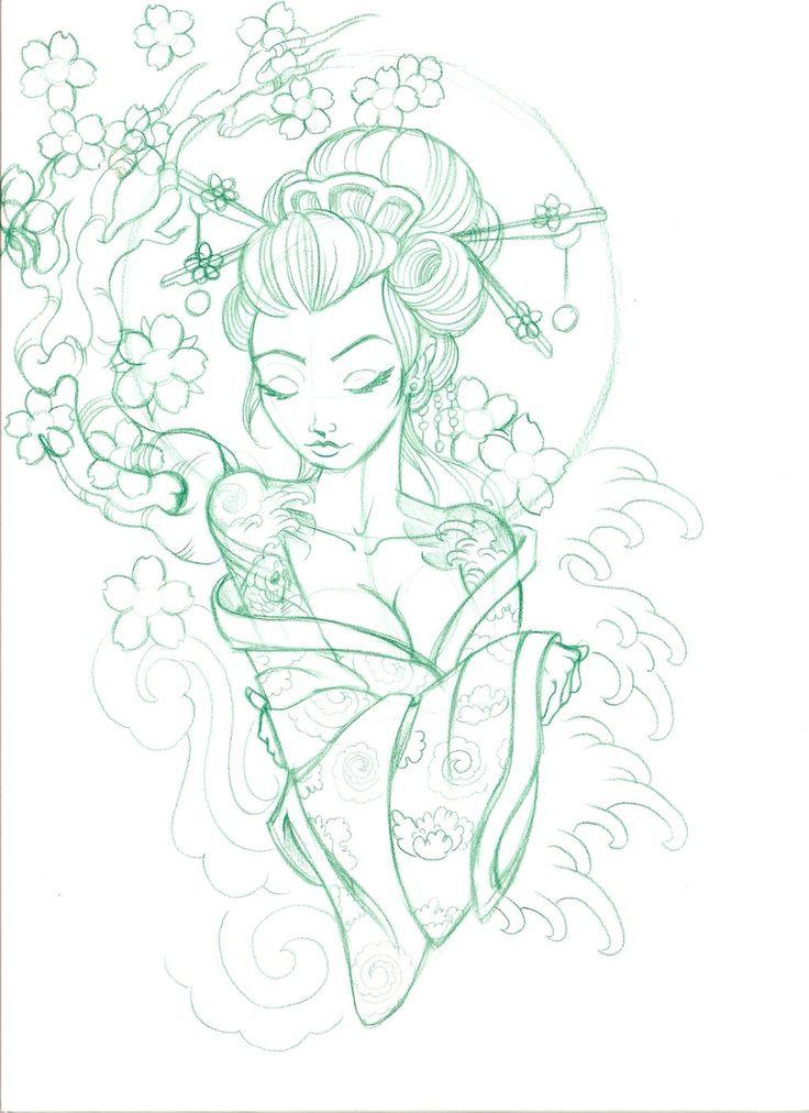 scan0027 by on deviantart tattoo ideas pinterest geishas. Black Bedroom Furniture Sets. Home Design Ideas