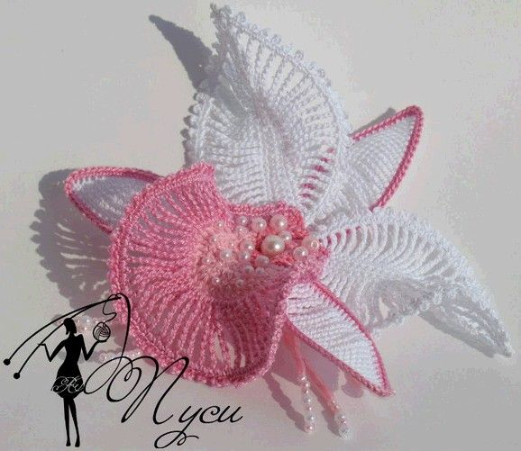 pictorial and diagrams to make this beautiful crochet orchid!