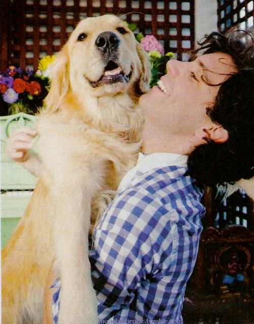 MIKA with Ella Wells *Greg Wells's Dog* Paris Match Magazine, France (September 2009) Photographed on April 4, 2009 in Culver City. Prepared mixing his second album in a studio recording of the Los Angeles suburb