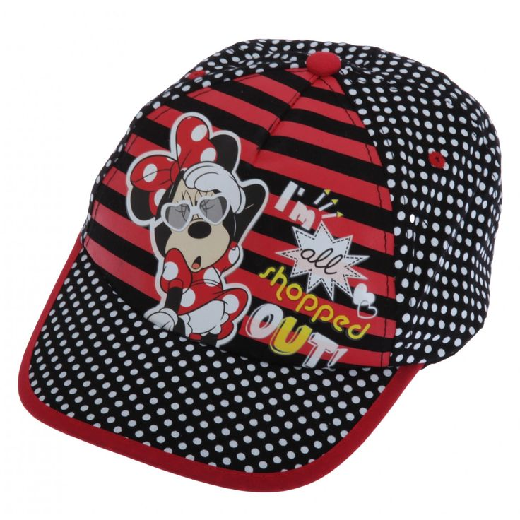 Childrens/Kids Little Girls Minnie Mouse All Shopped Out Baseball Cap (4-7 Years (54CM)) (Black). Great quality kids cap. Perfect for any fan. Adjustable back for comfort and to adjust around your childs head. Made with 100% Cotton. Machine washable.