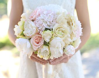 Bouquet da sposa di seta fiori Rose rosa Baby ' s di braggingbags