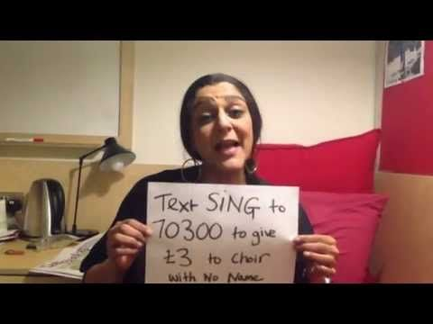 Meera Syal sings the 12 Days of Christmas for the Choir with No Name! for further info contact info@mediamoguls.com
