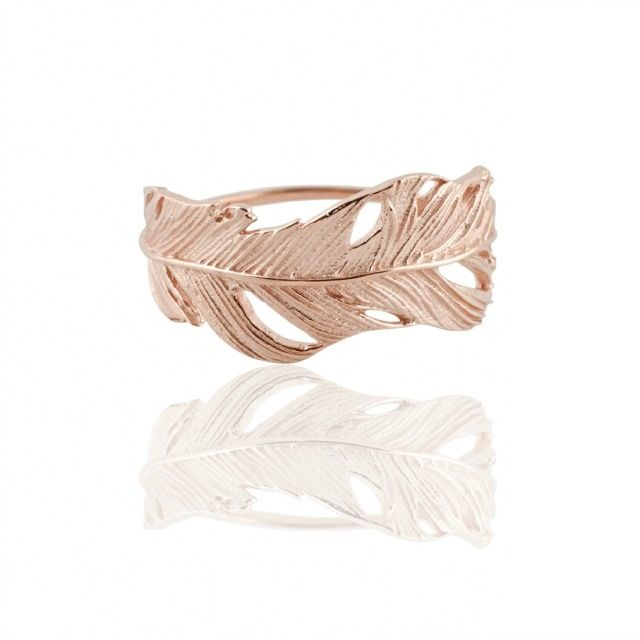 Image of FEATHER BAND RING ROSE