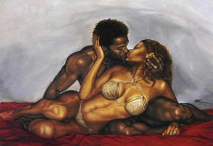 "African American Love Art | WAK Art: Kevin ""WAK"" Williams Art Gallery - The Black Art Depot"
