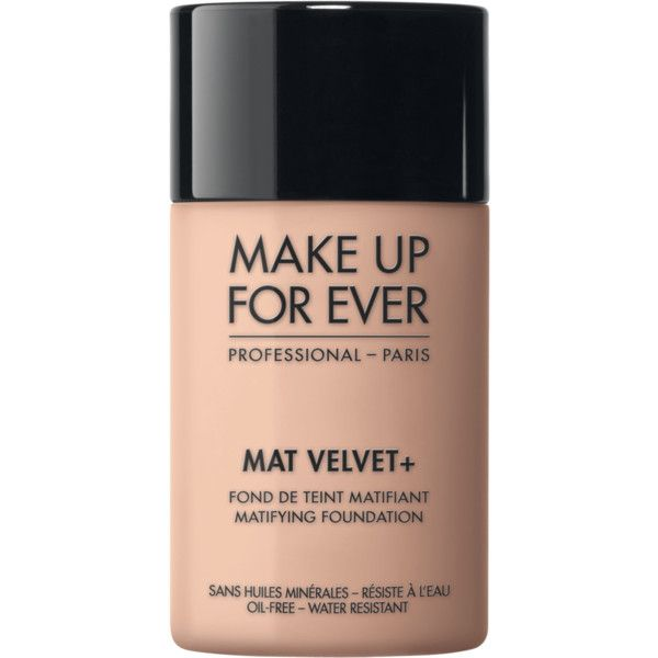 Mat Velvet + - Fond de teint – MAKE UP FOR EVER (72 BAM) ❤ liked on Polyvore featuring beauty products