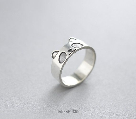 Panda ring,Lovely panda ring,Sterling silver Animal ring