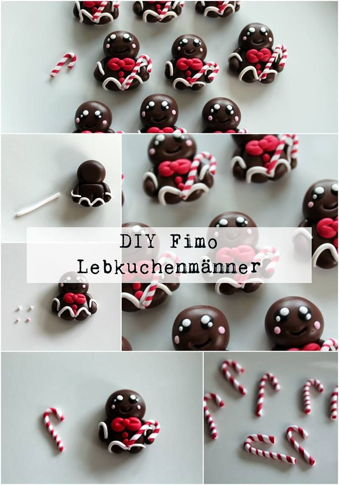 Beautiful DIY Fimo / Polymer Clay Lebkuchenmann Nice Look