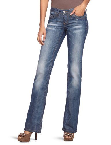 ONLY Damen Jeanshose/ Lang Regular Fit, auto low str 15048028, Straight Fit (Gerades Bein)