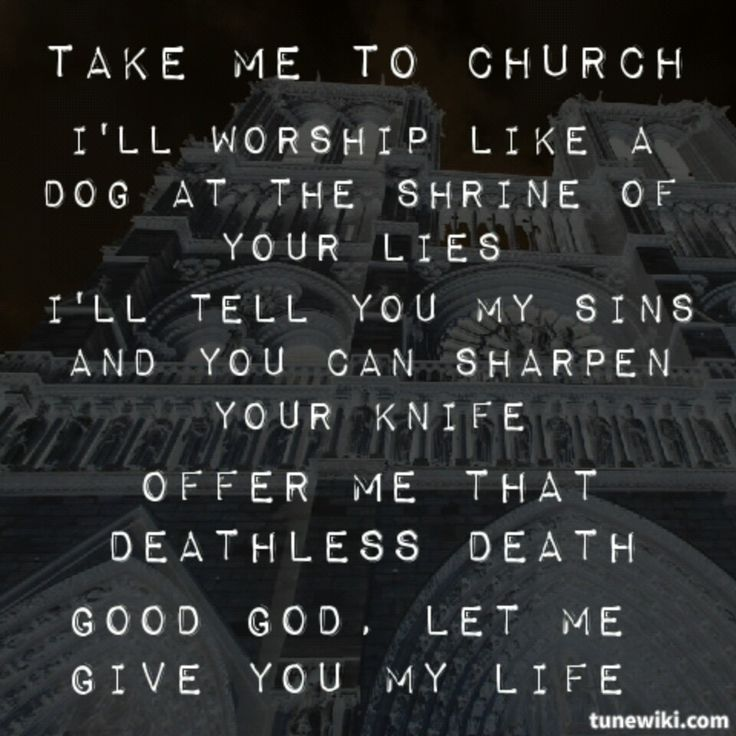 """Take Me To Church - Hozier. Thanks to Pinterest, everyone that commented """"take me to church"""" as their favorite song I am now obsessed with it!"""