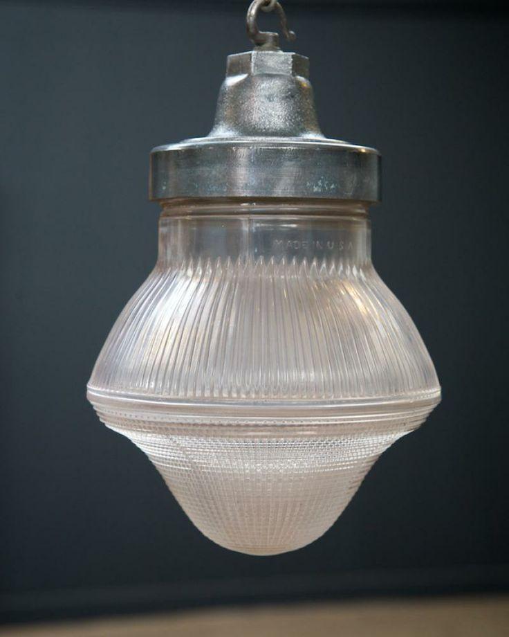 Holophane Factory Pendant, Antique Lighting, Drew Pritchard