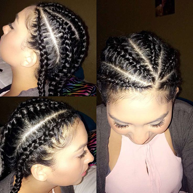 5 corn roll braids