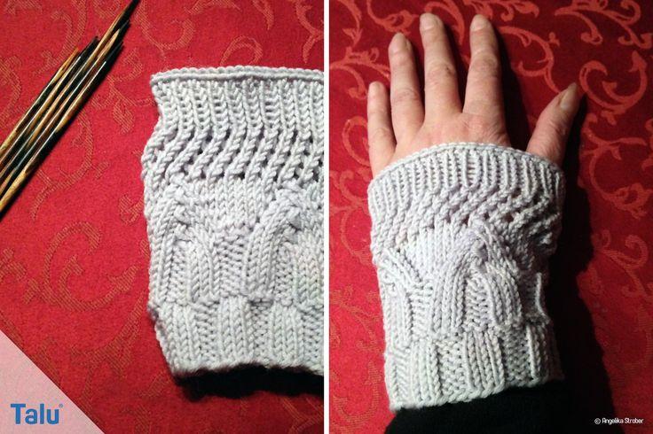 Gestrickte Handstulpen sind praktisch und schick. Mit unserer Anleitung lernen Sie, wie Sie edle Pulswärmer stricken können - wir zeigen Ihnen vier Muster.