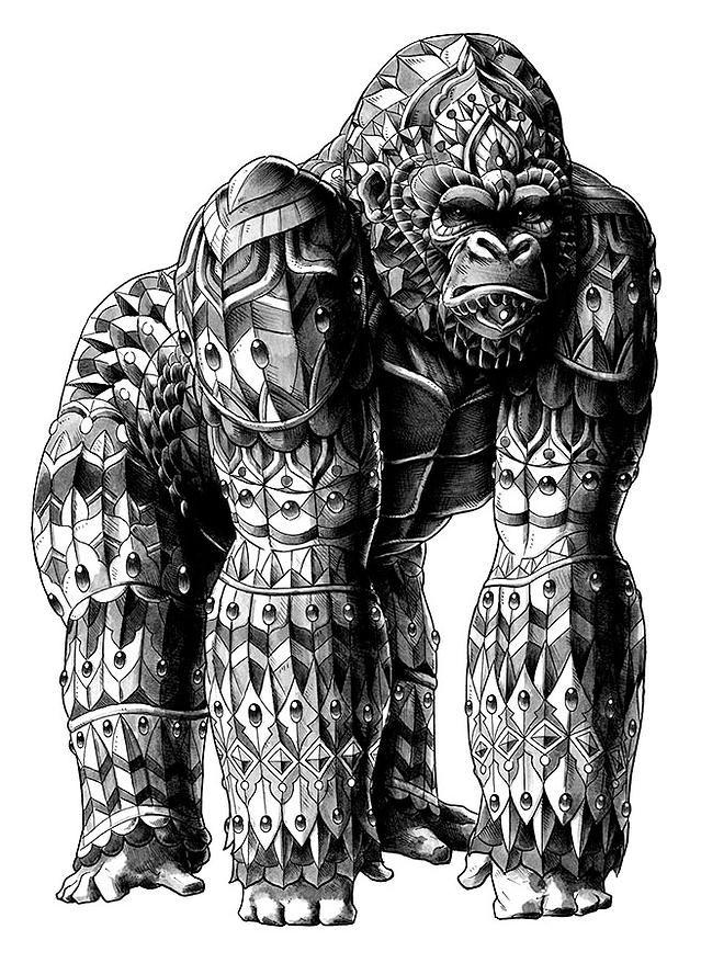 Hentai redcat gorilla man some