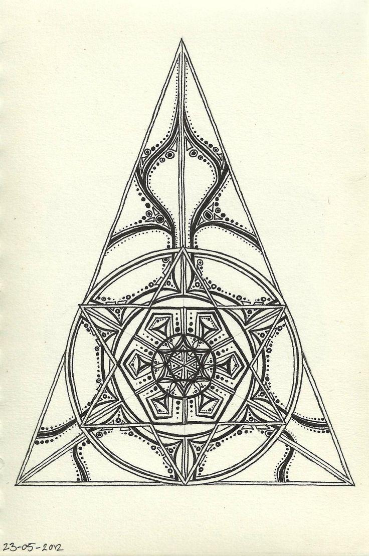 Mandala Tattoo   Annica I love the combination of geometric and mandala elements.